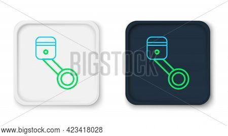 Line Engine Piston Icon Isolated On White Background. Car Engine Piston Sign. Colorful Outline Conce
