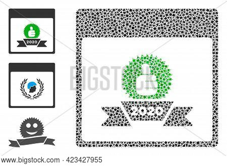 Mosaic 2020 Award Calendar Date Icon Designed From Joggly Parts In Various Sizes, Positions And Prop