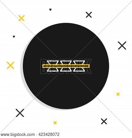 Line Barbed Wire Icon Isolated On White Background. Colorful Outline Concept. Vector