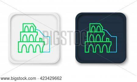 Line Coliseum In Rome, Italy Icon Isolated On White Background. Colosseum Sign. Symbol Of Ancient Ro