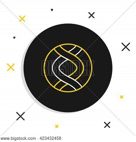 Line Dna Symbol Icon Isolated On White Background. Genetic Engineering, Genetics Testing, Cloning, P