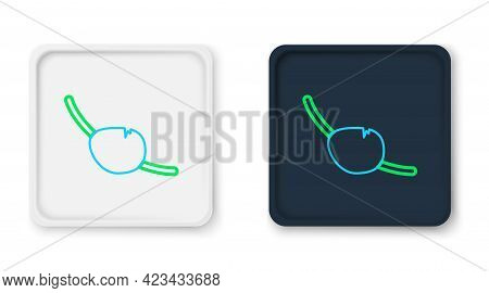 Line Pirate Eye Patch Icon Isolated On White Background. Pirate Accessory. Colorful Outline Concept.