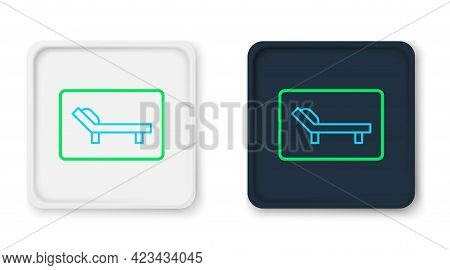 Line Sunbed Icon Isolated On White Background. Sun Lounger. Colorful Outline Concept. Vector