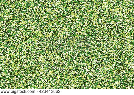 Abstract Background With Motley Green Camouflage Pattern
