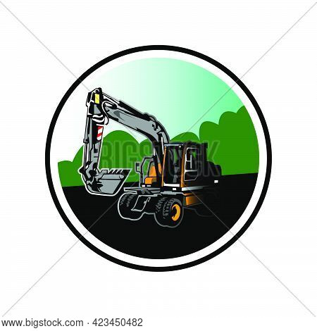 Illustration Vector Graphic Of Construction Excavator Design