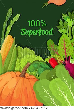 Fresh Vegetables And Herbs Composition Healthy Vegetarian Nutrition Natural Product Superfood Concep