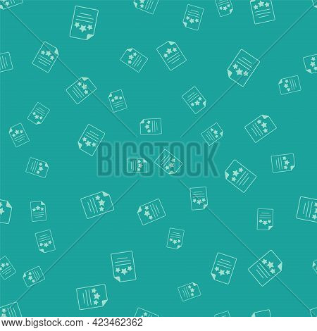 Green Declaration Of Independence Icon Isolated Seamless Pattern On Green Background. Vector