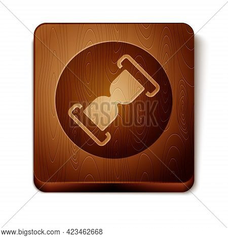 Brown Old Hourglass With Flowing Sand Icon Isolated On White Background. Sand Clock Sign. Business A