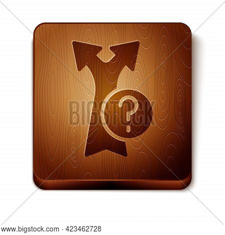 Brown Arrow Icon Isolated On White Background. Direction Arrowhead Symbol. Navigation Pointer Sign.