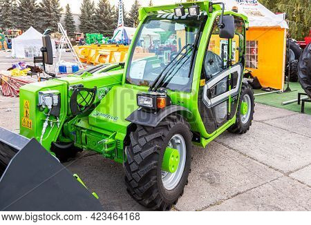Samara, Russia - September 23, 2017: Agricultural Tractor Of The Merlo Italian Company At The Annual