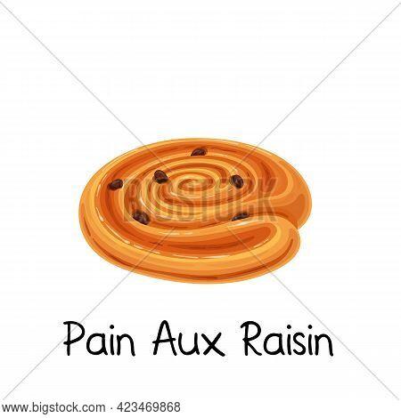 Pain Aux Raisin, Sweet Bun Roll Icon