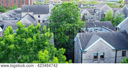 New Orleans, La - June 10: Rooftop View Of Aron Residences On Tulane University Campus On June 10, 2