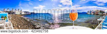 Luxury summer holidays in Greece, Mykonos island.