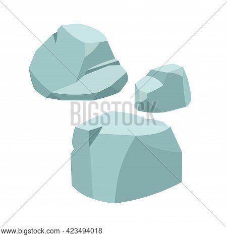 Group Of Stone Boulders, Ancient Building Block, Granite Or Marble Rock, Natural Weathering, Color V