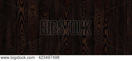 Wood Texture. Old Textured Wooden Boards With Scratches. Dark Brown Timber Plank Background. Highly