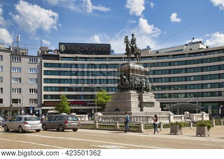 Sofia, Bulgaria - May 18 2019: The Monument To The Tsar Liberator Is An Equestrian Monument Created