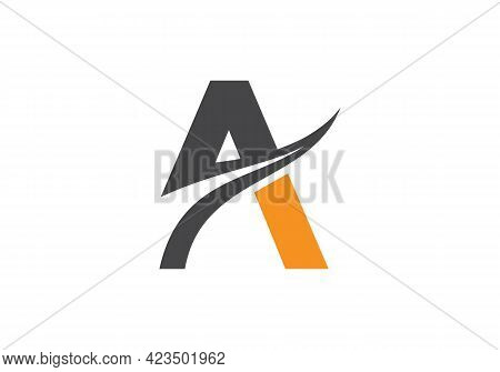 Initial A Letter Business Logo Design Vector Template With Minimal And Modern Trendy. A Logo Design
