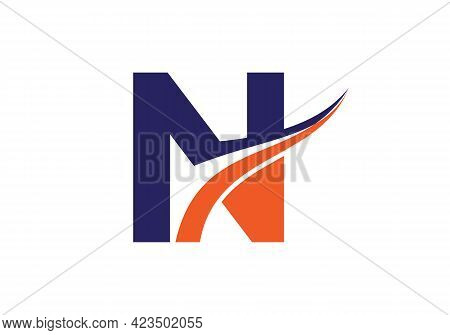 N Letter With Luxury Concept. Modern N Logo Design For Business And Company Identity