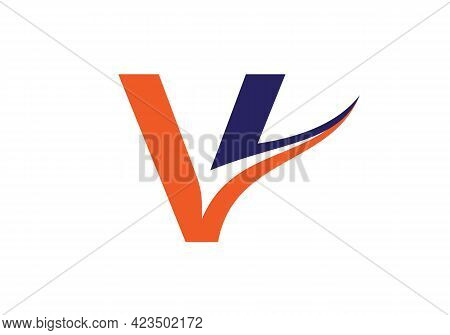Initial V Letter Logo With Creative Modern Business Typography Vector Template. V Logo Design