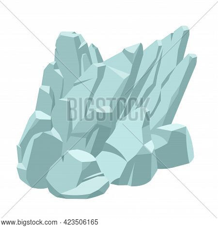 Sloping Rock, Decoration For Fish Tank, Granite Or Marble Stones, Natural Weathering, Underwater Mou