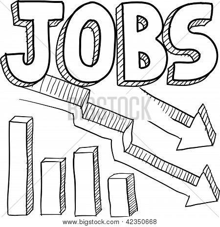 Jobs decreasing sketch