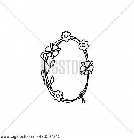 Vintage Floral Bold Letter Q Logo Spring. Classic Summer Letter Design Vectors With Black Color And