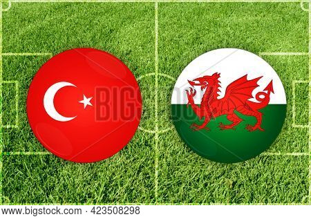 Concept for Football match Turkey vs Wales