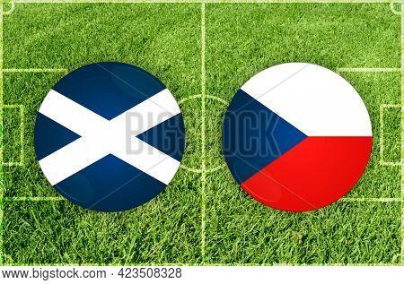 Concept for Football match Scotland vs Czech Republic