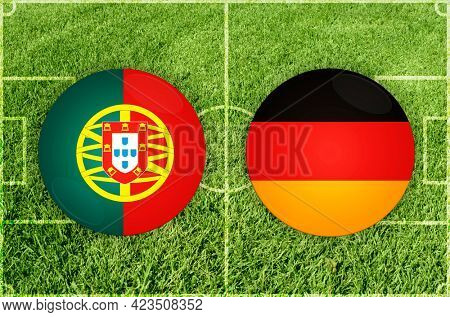 Concept for Football match Portugal vs Germany