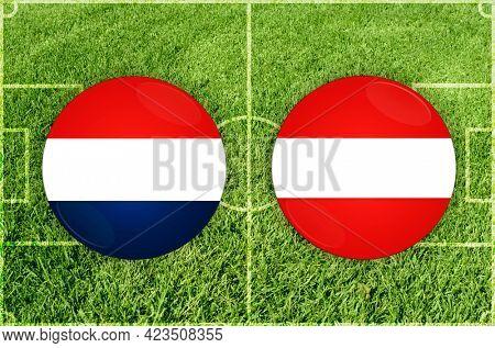 Concept for Football match Netherlands vs Austria
