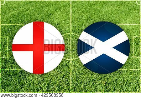 Concept for Football match England vs Scotland