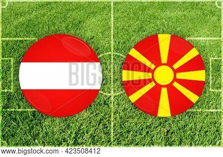 Concept for Football match Austria vs North Macedonia