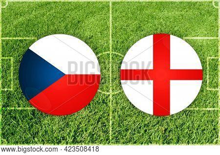 Concept for Football match Czech Republic vs England