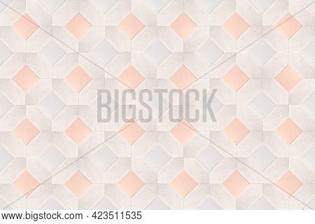 3D beige square diamond patterned background
