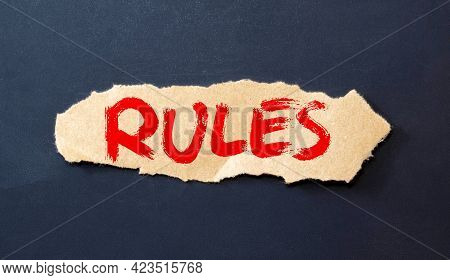 Motivational Words: New Rules. Piece Of Paper With The Text: New Rules.