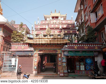Drugon Jangchu Monastery Chinese Shrine Temple For Nepali People And Foreign Travelers Travel Visit