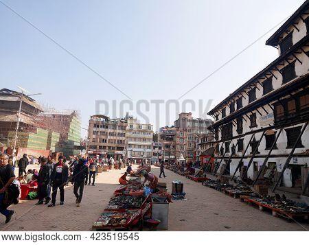 Souvenir Gift Craft Handmade Handicrafts On Floor Of Street  Shop For Nepali People Foreign Traveler