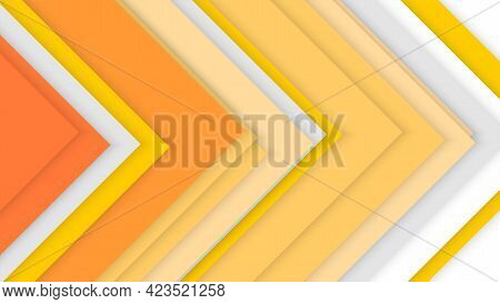 Colored Corners Arranged In Random Order. Abstract Geometric Background. Trendy Color. Minimalistic