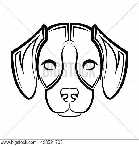 Black And White Line Art Of The Front Of The Beagle Dog Head Good Use For Symbol Mascot Icon Avatar