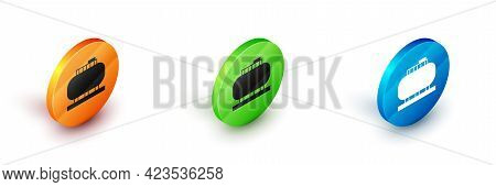 Isometric Oil Tank Storage Icon Isolated On White Background. Vessel Tank For Oil And Gas Industrial