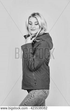 Fashion Studio Portrait Of Sportive Girl. Smart Casual Outfit. Cool Hipster Girl. Sexy Spring Brunet