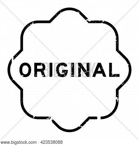 Grunge Black Original Word Rubber Seal Stamp On White Background