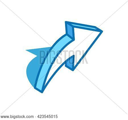 Share Sign Isometric Icon. Feedback, Forward Message, Testimonial 3d Line Symbol.