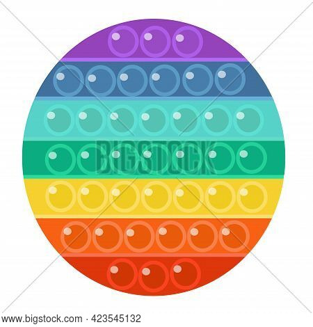 Anti-stress Game, Pop It, Rainbow Color, Isolated