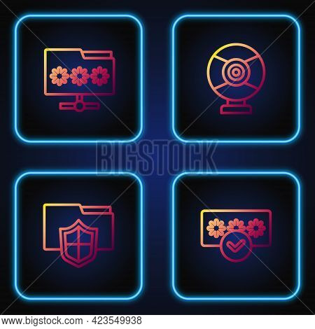Set Line Password Protection, Document Folder, Folder With Password And Security Camera. Gradient Co