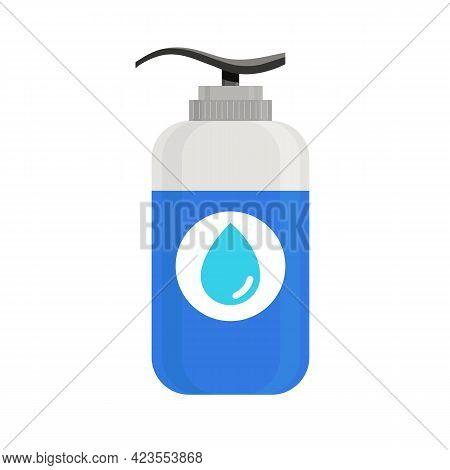 Vector Hand Sanitizer Bottle. Washing Gel, Hand Sanitizer Dispenser With Alcohol Gel- Kill Bacteria,
