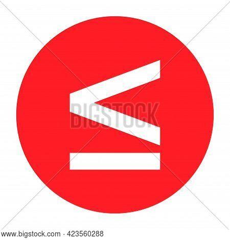 Less Than Or Equal To Mathematics Symbol, Education Maths Icon, Web Element Vector Illustration Desi