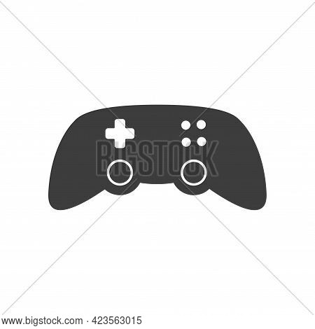 Joystick Video Game Controller Vector Icon. Play Console Or Joypad In Flat Design. Gamepad For Compu