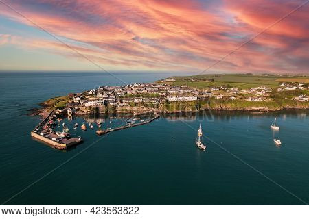 Aerial View Of Ballycotton, A Coastal Fishing  Village In County Cork, Ireland