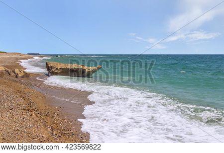 Famous Akamas Peninsula, Lara Bay Or Turtle Bay Scenery At Paphos, Cyprus